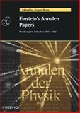 Einstein's Annalen Papers - The Complete Collection, 1901-1922 : Annalen der Physik, , 352740564X