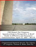 Crs Report for Congress, Thomas H. Neale, 129302564X