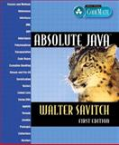 Absolute Java, Savitch, Walter J., 0321205677