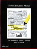Student Solutions Manual for Statistics for Business and Economics, Newbold, Paul and Carlson, William, 0132745682