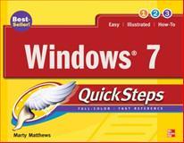 Windows 7 QuickSteps, Marty Matthews, 0071635696