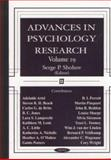 Advances in Psychology Research, , 1590335694