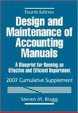 Design and Maintenance of Accounting Manuals : A Blueprint for Running an Effective and Efficient Department, Cumulative Supplement, Bragg, Steven M. and Brown, Harry L., 0471795690
