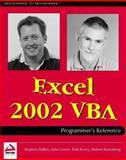 Excel 2002 VBA, Bovey, Rob, 1861005709