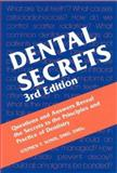 Dental Secrets, Sonis, Stephen T., 1560535733
