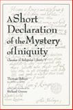 A Short Declaration of the Mystery of Iniquity, Helwys, Thomas, 086554574X
