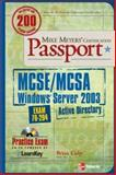 Mike Meyers' MCSE/MCSA Windows Server 2003 Active Directory Certification Passport (Exam 70-294), Culp, Brian, 0072225750