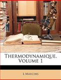 Thermodynamique, L Marchis and L. Marchis, 1149235764