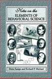 Notes on the Elements of Behavioral Science, Zumpe, Doris and Michael, Richard P., 0306465779