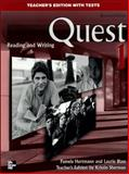 Quest Level 1 Reading and Writing Teacher's Edition, Kristin D. Sherman, 0073265772