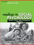 Readings in Social Psychology : General, Classic, and Contemporary Selections, Lesko, Wayne A., 0205595774
