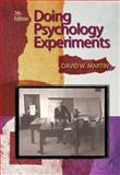 Doing Psychology Experiments, Martin, David W., 0495115770
