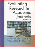 Evaluating Research in Academic Journals : A Practical Guide to Realistic Evaluation, Pyrczak and Pyrczak, Fred, 1884585787