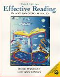 Effective Reading in a Changing World, Rinsky, Lee Ann and Wassman, Rose, 0130115797