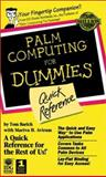 Palm Computing for Dummies Quick Reference, Mariva H. Aviram and Tom E. Barich, 0764505807