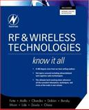 RF and Wireless Technologies, Bensky, Alan and Fette, Bruce A., 0750685816