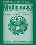 Mathematics for Elementary Teachers : A Contemporary Approach, Musser, Gary L. and Peterson, Blake E., 0470105852