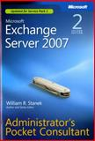 Microsoft Exchange Server 2007 Administrators Pocket Consultant, Stanek, William R., 0735625867