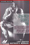 Research Stories for Introductory Psychology, Shaffer, Lary and Merrens, Matthew R., 0205385869