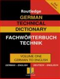 German Technical Dictionary, , 0415335868
