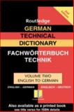 German Technical Dictionary, Routledge Staff, 0415335876