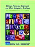 Phonics, Phonemic Awareness, and Word Analysis for Teachers : An Interactive Tutorial, Leu, Donald J. and Wilson, Robert M., 0131715879