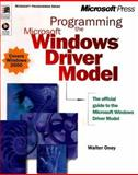 Programming the Microsoft Windows Driver Model, Oney, Walter, 0735605882
