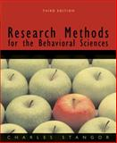 Research Methods for the Behavioral Sciences, Stangor, Charles, 0618705910