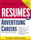 Resumes for Advertising Careers, Editors of VGM Career Books, 0071405925
