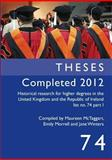 Theses Completed 2012, , 1905165935