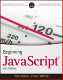 Javascript, Paul Wilton and Jeremy McPeak, 0470525932