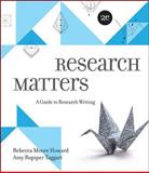 Research Matters, Howard, Rebecca Moore and Taggart, Amy Rupiper, 0073405949