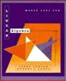 Linear Algebra, Maple Labs, Lawson, Terry, 0471135941