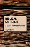 Biblical Criticism, Davies, Eryl W., 0567145948