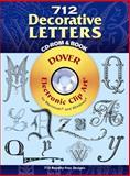 712 Decorative Letters, Dover Staff, 048699595X