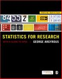 Statistics for Research : With a Guide to SPSS, Argyrous, George, 1849205957