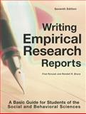 Writing Empirical Research Reports : A Basic Guide for Students of the Social and Behavioral Sciences, Pyrczak, Fred and Bruce, Randall R., 1884585973