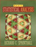 Basic Statistical Analysis, Sprinthall, Richard C., 0205495974