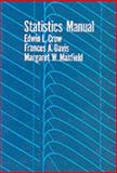 Statistics Manual, Crow, Edwin L. and Davis, Frances A., 048660599X