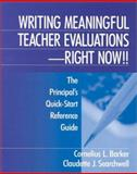 Writing Meaningful Teacher Evaluations - Right Now! 9780761976011