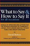 What to Say and How to Say It, David Belson, 0890096023