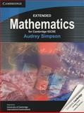 Extended Mathematics for Cambridge IGCSE, Audrey Simpson, 052118603X