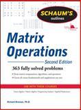 Matrix Operations, Bronson, Richard, 0071756043