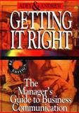 Getting It Right : The Manager's Guide to Business Communication, Adey, A. D. and Andrew, M. G., 0702136050