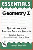 Geometry I Essentials, M. Fogiel and Research & Education Association Editors, 0878916067