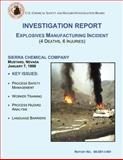 Investigation Report: Explosives Manufacturing Incident, U. S. Chemical Safety Investigation Board, 1500496073