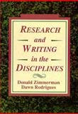 Research and Writing, Zimmerman, Donald and Zimmerman, John, 0155766082