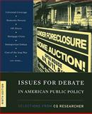 Issues for Debate in American Public Policy : Selections from Cq Researcher, CQ Researcher Staff, 0872896099