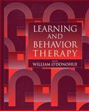 Learning and Behavior Therapy, O'Donohue, William, 0205186092
