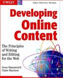 Developing Online Content, Irene Hammerich and Claire Harrison, 0471146110